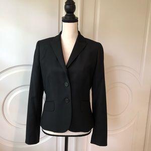 J Crew Super 120's Wool Jacket Black 2 Button Sz 6